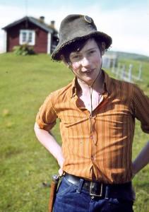 Jan Erik som ung, da han begynte å skrive noveller for bladet Western.
