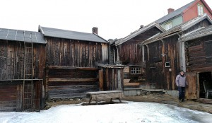 Bakgård med uthus, Per Amundsagården.