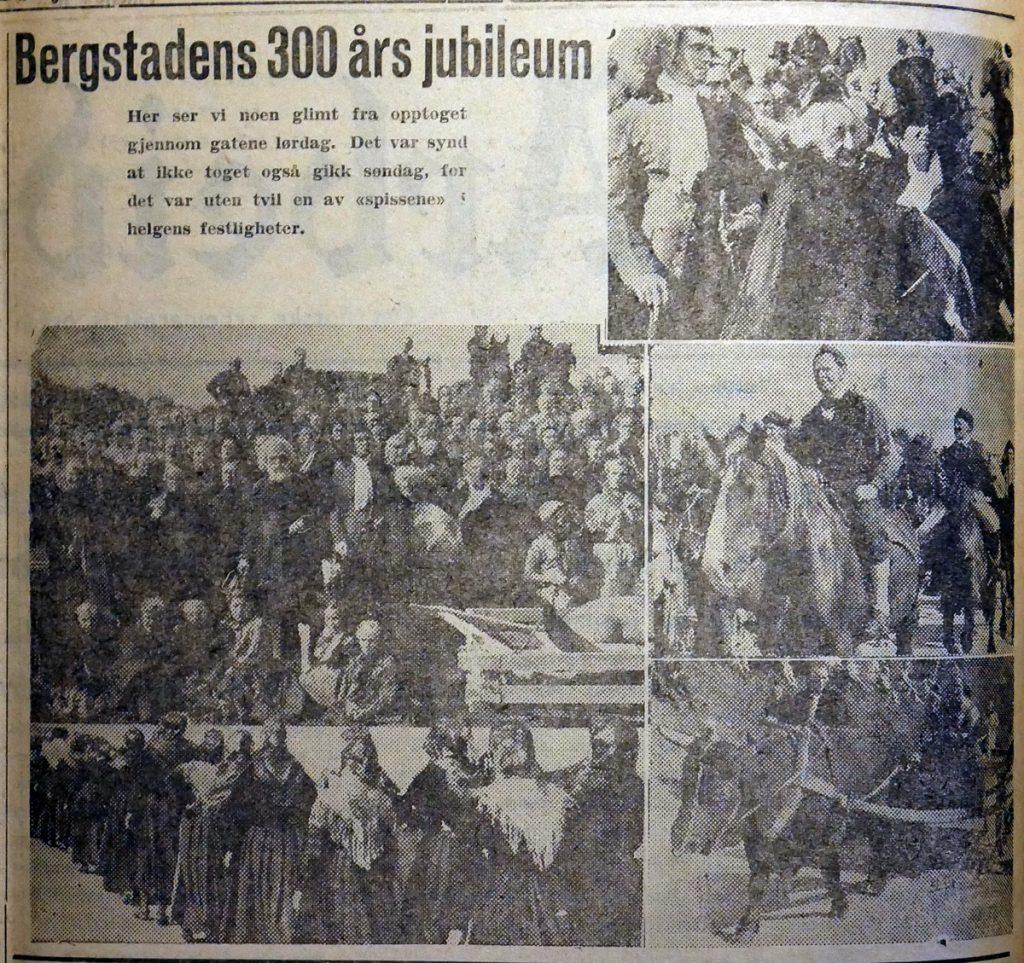Arbeidets Rett og Fjell-Ljom, august 1946, jubileum Røros Kobberverk, 300 år (egentlig 1944). Røroskål.